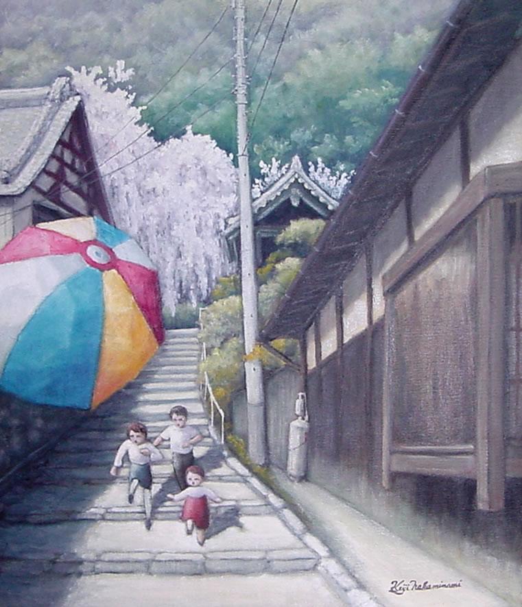 大阪を描こう展 出品作品 「紙風船」